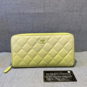 Chanel Lambskin Long wallet